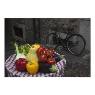 Italy, Brescia Province, Gargnano. Table with 2 Photo