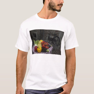 Italy, Brescia Province, Gargnano. Table with 2 T-Shirt