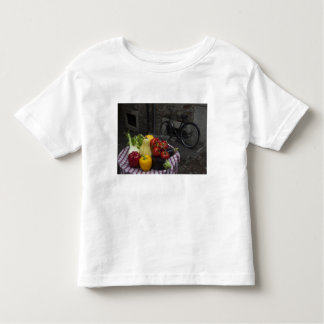 Italy, Brescia Province, Gargnano. Table with 2 Toddler T-Shirt