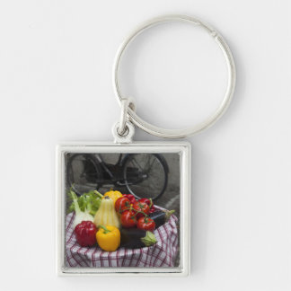 Italy, Brescia Province, Gargnano. Table with Key Ring