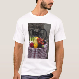 Italy, Brescia Province, Gargnano. Table with T-Shirt