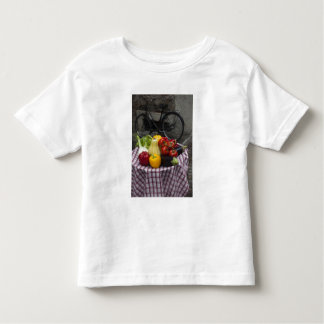 Italy, Brescia Province, Gargnano. Table with Toddler T-Shirt