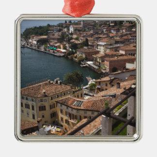 Italy, Brescia Province, Limone sul Garda. Town Christmas Ornament