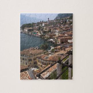 Italy, Brescia Province, Limone sul Garda. Town Jigsaw Puzzle