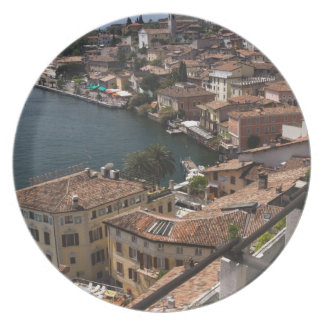 Italy, Brescia Province, Limone sul Garda. Town Plate