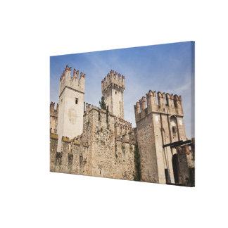 Italy, Brescia Province, Sirmione. Castello 2 Stretched Canvas Print