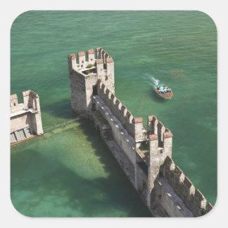 Italy, Brescia Province, Sirmione. Castello 3 Square Sticker