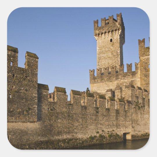 Italy, Brescia Province, Sirmione. Castello Square Sticker