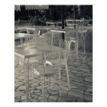 Italy, Brescia Province, Sirmione. Lakeside cafe Poster
