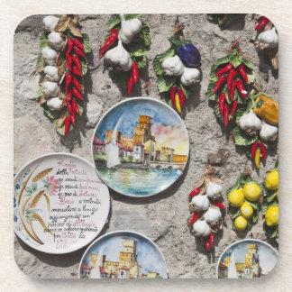Italy, Brescia Province, Sirmione. Souvenirs. Coaster