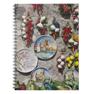 Italy, Brescia Province, Sirmione. Souvenirs. Notebook