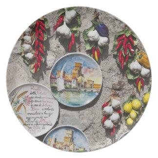 Italy, Brescia Province, Sirmione. Souvenirs. Plate