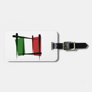 Italy Brush Flag Bag Tag
