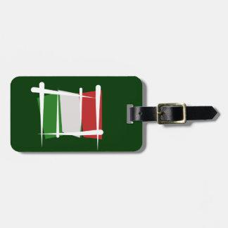Italy Brush Flag Luggage Tag
