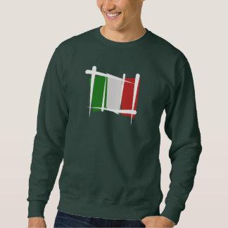Italy Brush Flag Sweatshirt