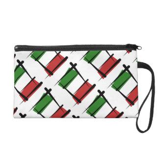 Italy Brush Flag Wristlet