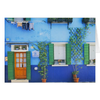 Italy, Burano. A colorful house in Burano near Card