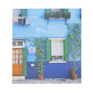 Italy, Burano. A colorful house in Burano near Notepad