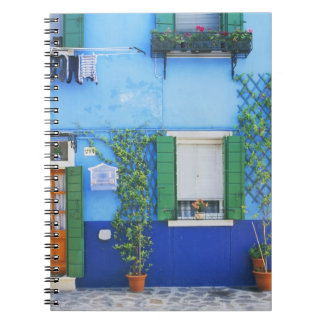 Italy, Burano. A colorful house in Burano near Spiral Notebook