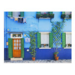 Italy, Burano. A colourful house in Burano near