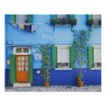 Italy, Burano. A colourful house in Burano near Poster