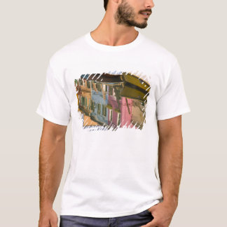 Italy, Burano. Boats on a canal with T-Shirt