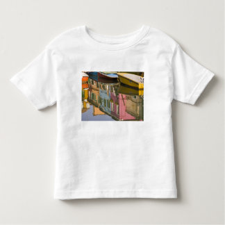 Italy, Burano. Boats on a canal with Toddler T-Shirt