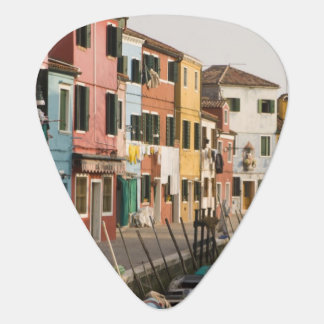 Italy, Burano. Colorful houses of line a Guitar Pick
