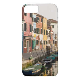 Italy, Burano. Colorful houses of line a iPhone 8/7 Case