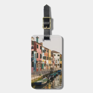 Italy, Burano. Colorful houses of line a Luggage Tag