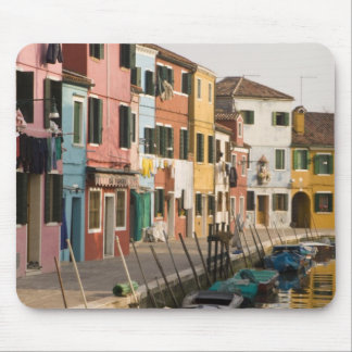 Italy, Burano. Colorful houses of line a Mouse Mat