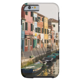 Italy, Burano. Colorful houses of line a Tough iPhone 6 Case