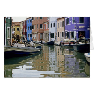 Italy- Burano Reflections Card