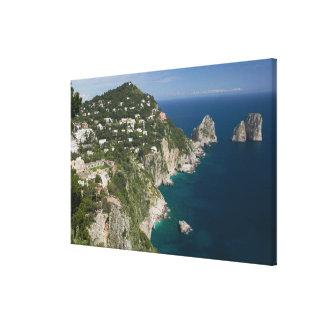 ITALY, Campania, (Bay of Naples), CAPRI: Canvas Print