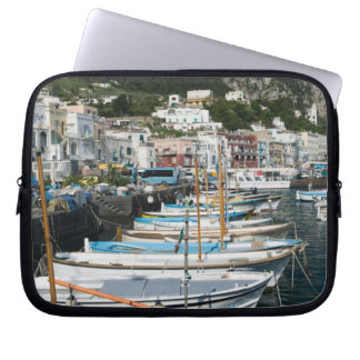 ITALY, Campania, (Bay of Naples), CAPRI: Marina Laptop Sleeve