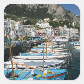 ITALY, Campania, (Bay of Naples), CAPRI: Marina Square Sticker