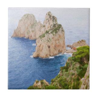 Italy Capri Faraglioni Tile
