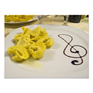 Italy, Cento. A plate of cheese tortellini Photo Print