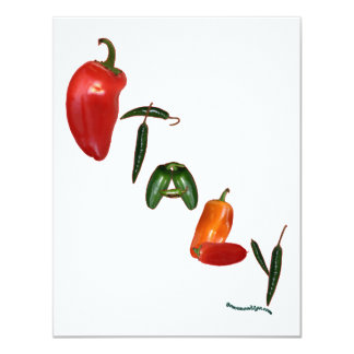 Italy Chili Peppers 11 Cm X 14 Cm Invitation Card