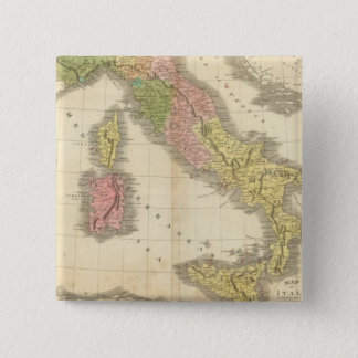 Italy Chonology Atlas Map 15 Cm Square Badge