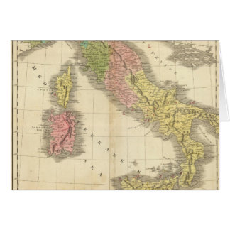 Italy Chonology Atlas Map Card