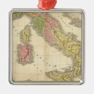 Italy Chonology Atlas Map Christmas Ornament