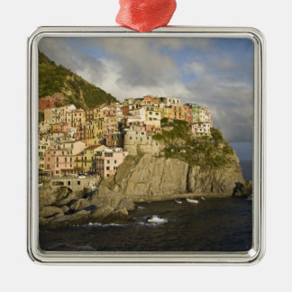 Italy, Cinque Terre, Manarola. Village on cliff. Christmas Ornament
