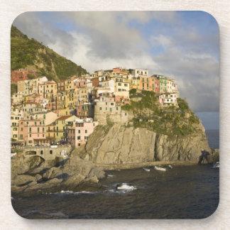 Italy, Cinque Terre, Manarola. Village on cliff. Coaster