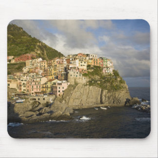Italy, Cinque Terre, Manarola. Village on cliff. Mouse Mat