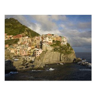 Italy, Cinque Terre, Manarola. Village on cliff. Postcard