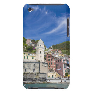 Italy, Cinque Terre, Vernazza, Harbor and Church iPod Touch Covers