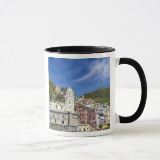 Italy, Cinque Terre, Vernazza, Harbor and Church Mug