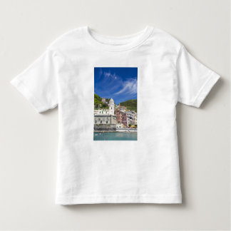 Italy, Cinque Terre, Vernazza, Harbor and Church Toddler T-Shirt
