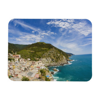 Italy, Cinque Terre, Vernazza, Hillside Town of 2 Magnet